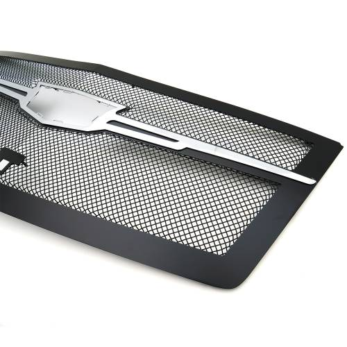 T-REX Grilles - 2015i-2020 Escalade Upper Class Series Main Grille, Black with Chrome Plated Center Trim Piece, 1 Pc, Replacement, Fits Vehicles with Camera - PN #51191 - Image 9