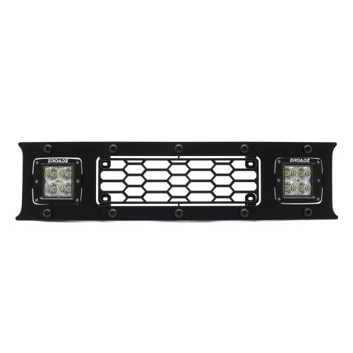T-REX Grilles - 2018-2020 F-150 Limited, Lariat Stealth Laser Torch Bumper Grille, Black, 1 Pc, Overlay, Black Studs with (2) 3 Inch LED Cube Lights - PN #7325711-BR - Image 4
