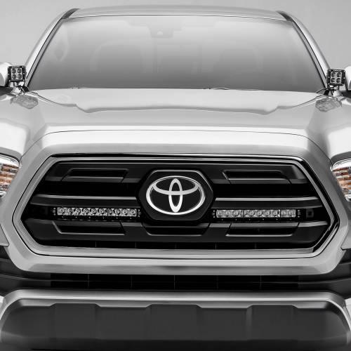 ZROADZ OFF ROAD PRODUCTS - 2018-2019 Toyota Tacoma OEM Grille LED Kit with (2) 10 Inch LED Single Row Slim Light Bars - PN #Z419611-KIT - Image 1