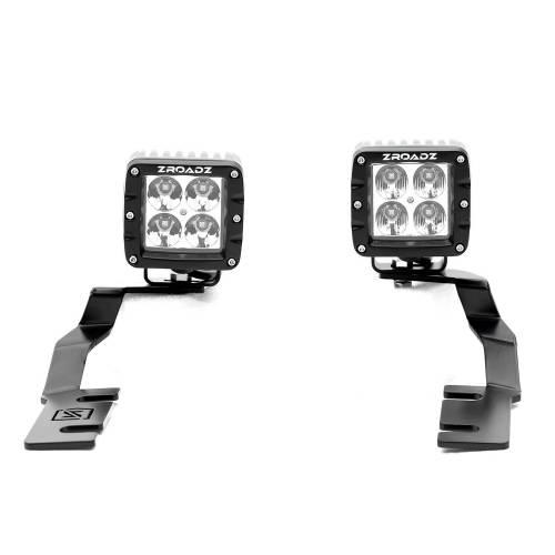 ZROADZ - 2019-2021 Ford Ranger Hood Hinge LED Kit with (2) 3 Inch LED Pod Lights - PN #Z365821-KIT2 - Image 6