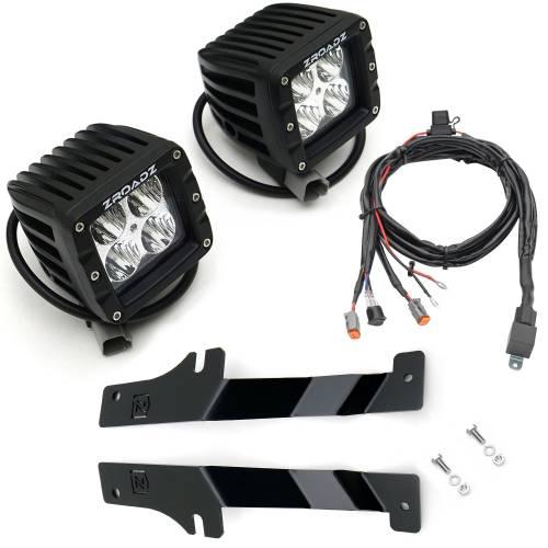 ZROADZ - 2017-2020 Ford F-150 Raptor Hood Hinge LED Kit with (2) 3 Inch LED Pod Lights - PN #Z365701-KIT2 - Image 13