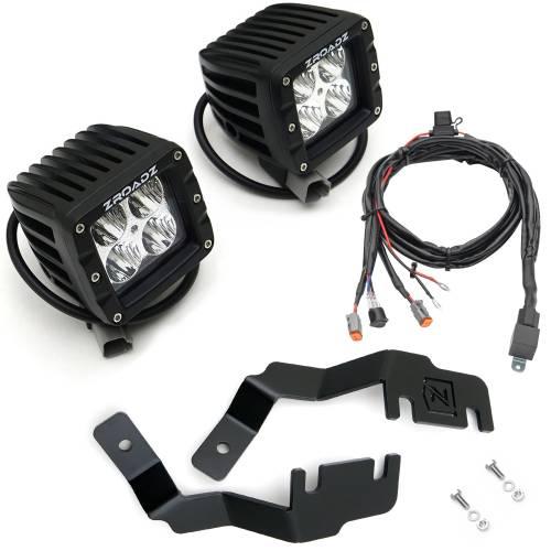 ZROADZ - 2014-2020 Toyota 4Runner Hood Hinge LED Kit with (2) 3 Inch LED Pod Lights - PN #Z369491-KIT2 - Image 7
