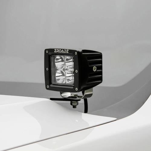 ZROADZ OFF ROAD PRODUCTS - 2005-2015 Toyota Tacoma Hood Hinge LED Kit with (2) 3 Inch LED Pod Lights - PN #Z369381-KIT2 - Image 1