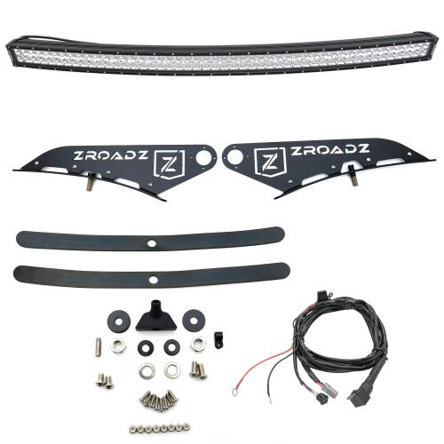 ZROADZ OFF ROAD PRODUCTS - Silverado, Sierra Front Roof LED Kit with (1) 50 Inch LED Curved Double Row Light Bar - PN #Z332081-KIT-C - Image 4