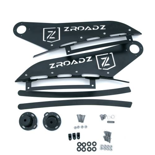 ZROADZ - 2007-2013 Silverado, Sierra 1500 Front Roof LED Bracket to mount (1) 50 Inch Curved LED Light Bar - PN #Z332051 - Image 4