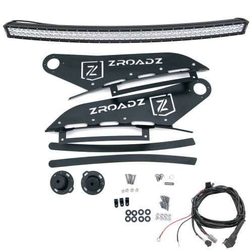 ZROADZ - 2007-2013 Silverado, Sierra 1500 Front Roof LED Kit with (1) 50 Inch LED Curved Double Row Light Bar - PN #Z332051-KIT-C - Image 3