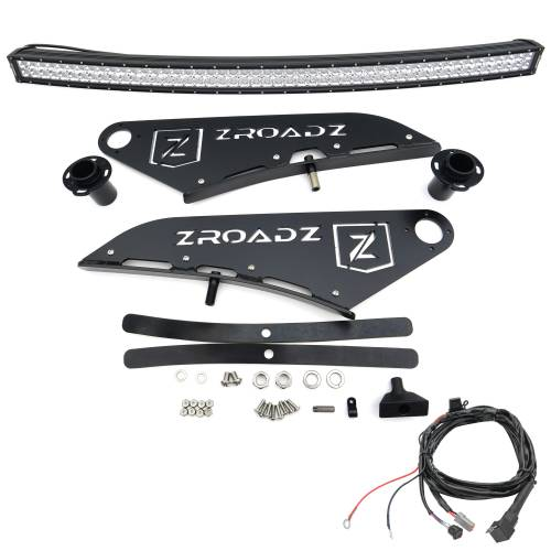ZROADZ - 2015-2021 Ford F-150 Front Roof LED Kit with 50 Inch LED Curved Double Row Light Bar - PN #Z335731-KIT-C - Image 5