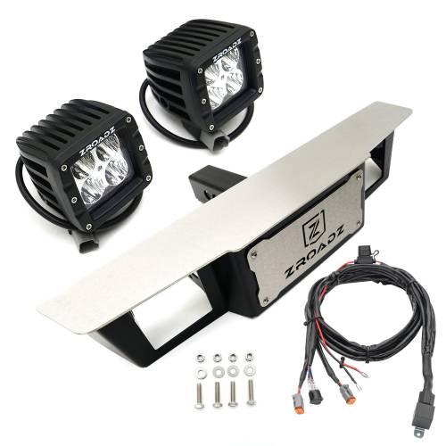 ZROADZ - Universal Hitch Step LED Kit with (2) 3 Inch LED Pod Lights, 2 Inch Hitch Receiver - PN #Z390010-KIT - Image 4