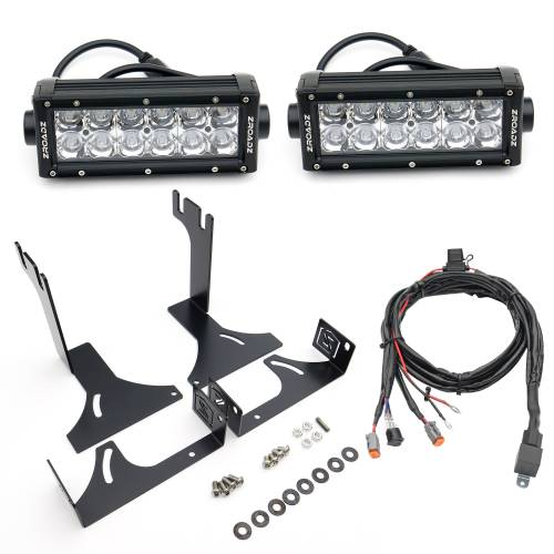 ZROADZ OFF ROAD PRODUCTS - 2014-2021 Toyota Tundra Rear Bumper LED Kit with (2) 6 Inch LED Straight Double Row Light Bars - PN #Z389641-KIT - Image 3