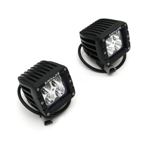 ZROADZ - 2007-2018 Jeep JK Front Roof Side LED Kit with (2) 3 Inch LED Pod Lights - PN #Z334811-KIT - Image 12