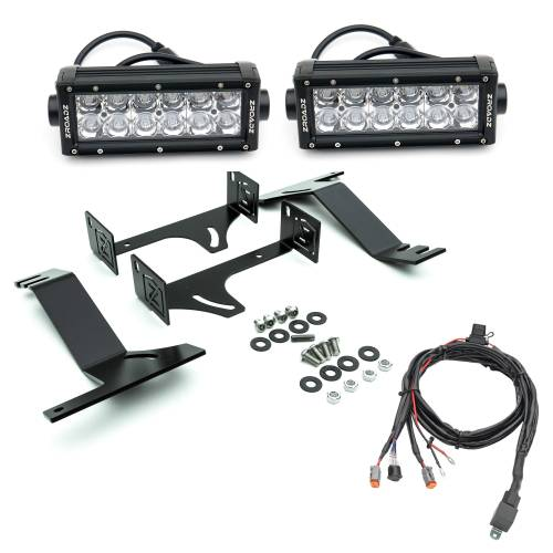 ZROADZ - 2016-2019 Nissan Titan Rear Bumper LED Kit with (2) 6 Inch LED Straight Double Row Light Bars - PN #Z387581-KIT - Image 3