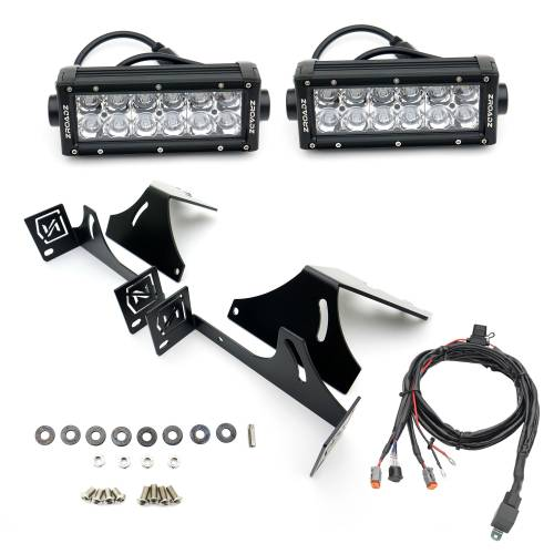 ZROADZ OFF ROAD PRODUCTS - 2017-2021 Ford Super Duty Rear Bumper LED Kit with (2) 6 Inch LED Straight Double Row Light Bars - PN #Z385471-KIT - Image 7