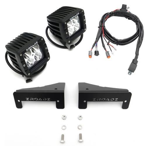 ZROADZ OFF ROAD PRODUCTS - 2007-2018 Jeep JK Tail Light Top LED Kit with (2) 3 Inch LED Pod Lights - PN #Z384812-KIT - Image 2