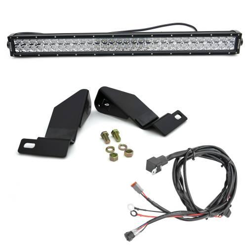 ZROADZ - 2007-2013 Chevrolet Silverado 1500 Front Bumper Top LED Kit with (1) 30 Inch LED Straight Double Row Light Bar - PN #Z322051-KIT - Image 2