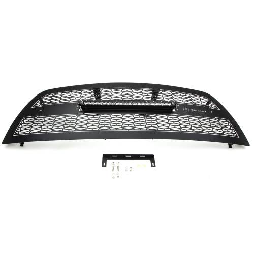 """T-REX Grilles - 2013-2018 Ram 2500, 3500 ZROADZ Grille, Black, 1 Pc, Replacement with (1) 20"""" LED - PN #Z314521 - Image 3"""