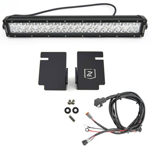 ZROADZ OFF ROAD PRODUCTS - 2008-2010 Ford Super Duty Front Bumper Center LED Kit with (1) 20 Inch LED Straight Double Row Light Bar - PN #Z325632-KIT - Image 3
