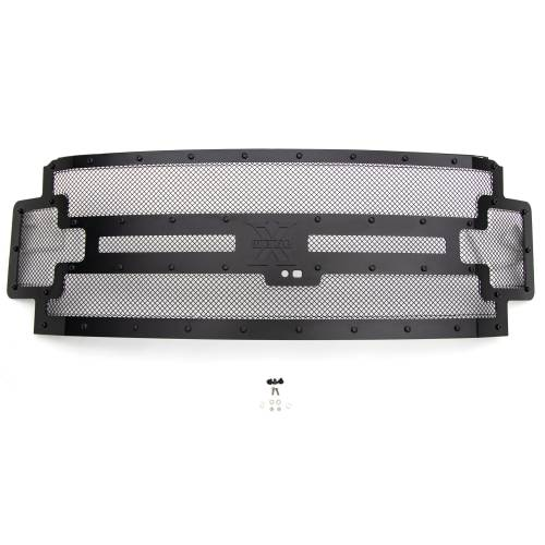 T-REX Grilles - 2017-2019 Super Duty Stealth X-Metal Grille, Black, 1 Pc, Replacement, Black Studs, Fits Vehicles with Camera - PN #6715371-BR - Image 3
