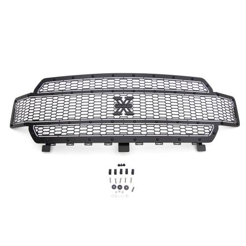 T-REX Grilles - 2018-2020 F-150 Stealth Laser X Grille, Black, 1 Pc, Replacement, Black Studs, Does Not Fit Vehicles with Camera - PN #7715841-BR - Image 6