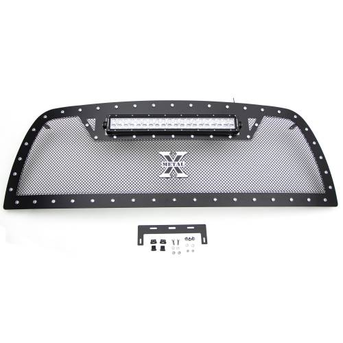 """T-REX Grilles - 2013-2018 Ram 2500, 3500 Torch Grille, Black, 1 Pc, Replacement, Chrome Studs with (1) 20"""" LED - PN #6314521 - Image 4"""