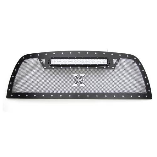 """T-REX Grilles - 2013-2018 Ram 2500, 3500 Torch Grille, Black, 1 Pc, Replacement, Chrome Studs with (1) 20"""" LED - PN #6314521 - Image 5"""