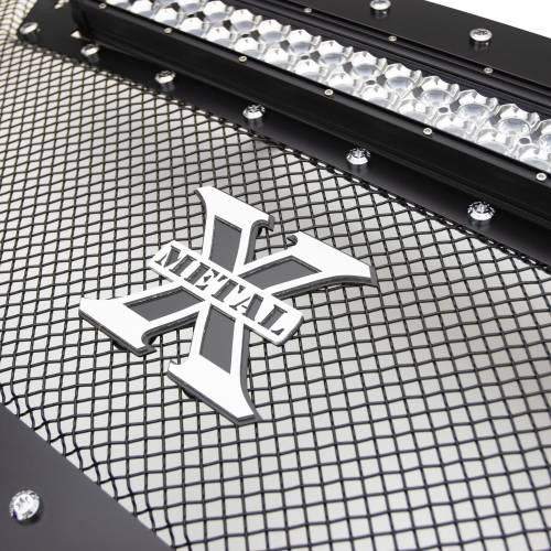 """T-REX Grilles - 2013-2018 Ram 2500, 3500 Torch Grille, Black, 1 Pc, Replacement, Chrome Studs with (1) 20"""" LED - PN #6314521 - Image 7"""