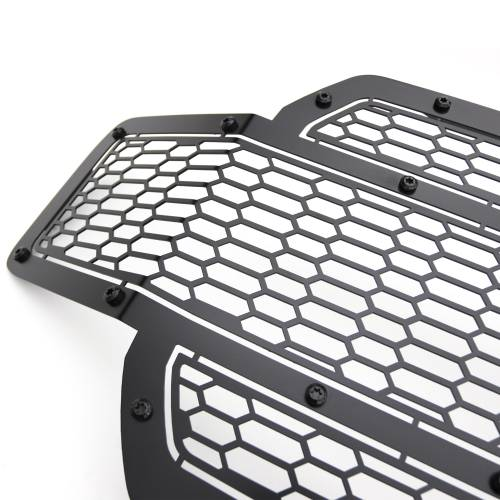 T-REX Grilles - 2018-2020 F-150 Stealth Laser X Grille, Black, 1 Pc, Replacement, Black Studs, Does Not Fit Vehicles with Camera - PN #7715841-BR - Image 8