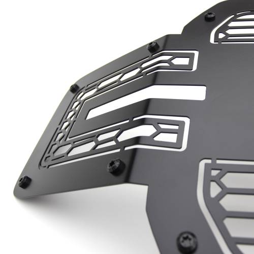 T-REX Grilles - 2018-2020 F-150 Stealth Laser Torch Grille, Black, 1 Pc, Replacement, Black Studs with 30 Inch LED, Does Not Fit Vehicles with Camera - PN #7315711-BR - Image 6