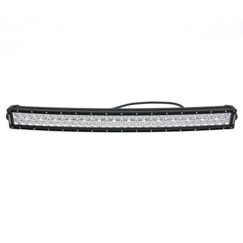 """T-REX Grilles - 2017-2019 Super Duty Torch AL Grille, Black with brushed aluminum mesh and trim, 1 Pc, Replacement, Chrome Studs with (1) 30"""" LED, Does Not Fit Vehicles with Camera - PN #6315485 - Image 8"""