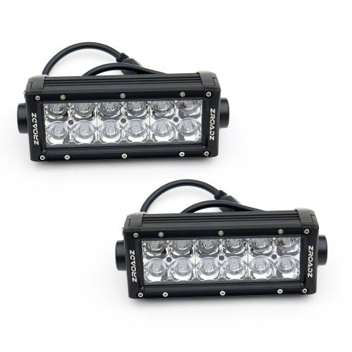 """T-REX Grilles - 2018-2021 Tacoma Torch Grille, Black, 1 Pc, Insert, Chrome Studs with (2) 6"""" LEDs, Does Not Fit Vehicles with Camera - PN #6319511 - Image 6"""