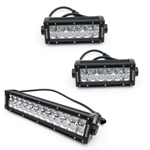 """T-REX Grilles - 2007-2013 Silverado 1500 Torch Grille, Black, 1 Pc, Replacement, Chrome Studs with (2) 6"""" and (1) 12"""" LEDs - PN #6311111 - Image 4"""