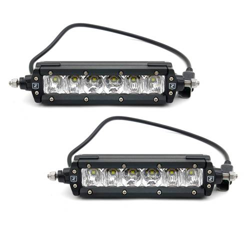 ZROADZ OFF ROAD PRODUCTS - 2017-2019 Ford Super Duty XL OEM Grille LED Kit with (2) 6 Inch LED Straight Single Row Slim Light Bars - PN #Z415771-KIT - Image 11