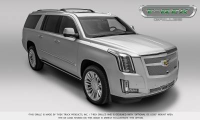 T-REX Grilles - 2015-2015 Escalade Upper Class Series Main Mesh Grille, Chrome, 1 Pc, Replacement - PN #56183 - Image 4